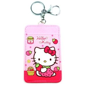 Hello Kitty ID Card Holder Key Chain Pink 4 Types